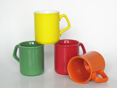 10oz color glazed mug