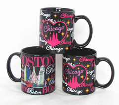 11oz Color Glazed Mug with  Souvenir printing