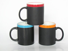 11oz color rim chalkboard mug