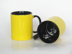 11oz standard ceramic two tone mug