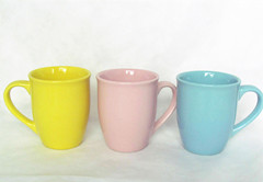 12oz color glazed mug