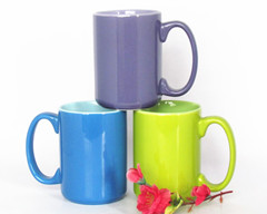 15oz ceramic color glazed mug
