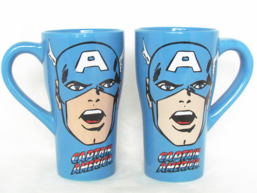 16oz Color Glazed Mug of Captain American