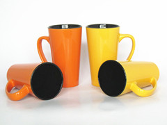 16oz V-shape mug two tone mug