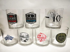 Glass Cup With Logo Printing
