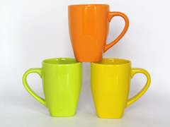 ceramic color glazed square mug