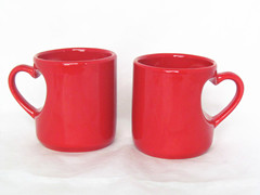 couple mug lover mug heart shape handle mug